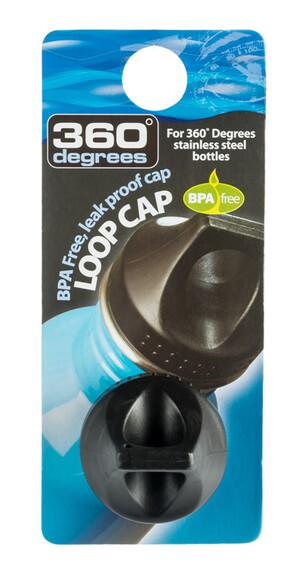 360° degrees Loop Cap Black